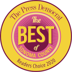 Best of Sonoma County 2020 award