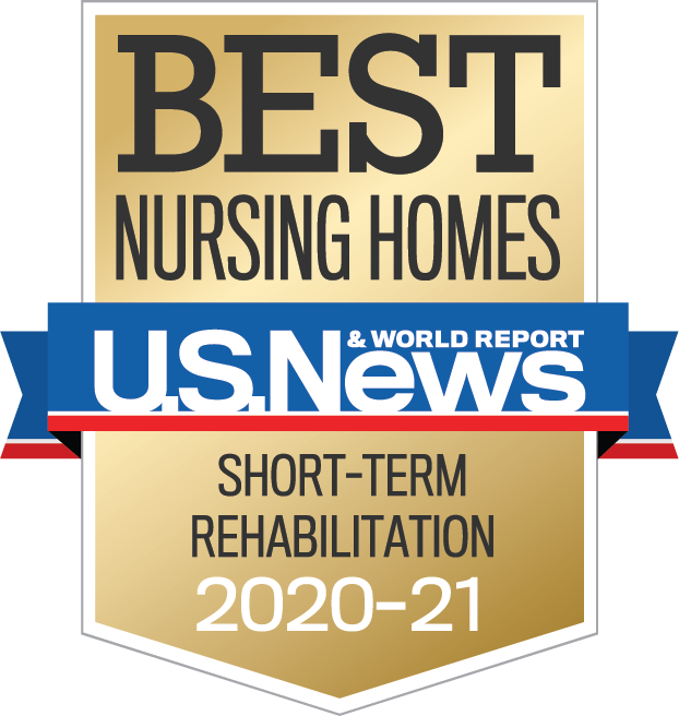 US news and world report Best Nursing Home Short Term Rehabilitation 2020-2021 badge