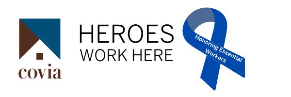 Covia Heroes work here logo