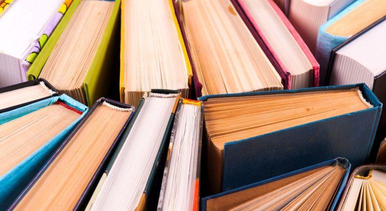 many books arranged artfully