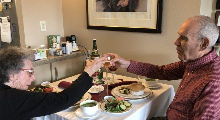 Roberta and David Pressman toast to Circle of Friends